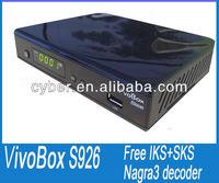 VIVO Box S926 for nagra3 iks and sks is free stable than az box bravissimo,az america s930a