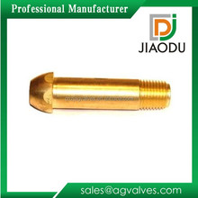 """factory sale low price 1/4"""" customized npt forged brass male threaded regulator inlet fitting nipples"""