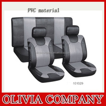 Leather car seat covers black waterproof PVC seat covers made in China