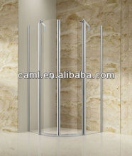 CAML Good quality polished finish glass shower room