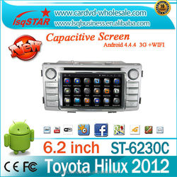 Quad core android 4.4.4 1024*600 HD car dvd player for TOYOTA Hilux 2012