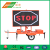 Double Sides Video Screen LED Solar VMS Trailer