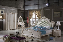 alibaba French bedroom furniture set/ italian classic luxury adult room furniture/ rococo french furniture palace bedroom L108A