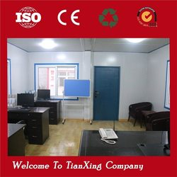 Steel structure economical living flexible office container drawing
