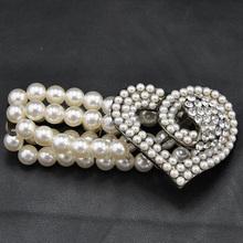 Artificial Pearl heart bracelet