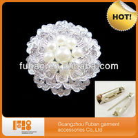 2015 most fashionable wholesale china pearl brooch for wedding invitations