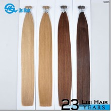 23 Years Experience Direct Factory Top Quality Remy Human Hair great lengths double drawn 26 inch i-tip hair exte