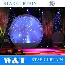 Charming led stage curtain for wedding decoration