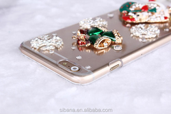 2015 most amazing design santa cell phone case for iPhone 6 5s 4s,dimond wallet case for iphone 6 plus