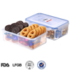 Transparent pp plastic storage box with compartments