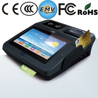 Jepower JP762A EMV Certified Card Terminal with Printer NFC/GPS/3G/2D barcode/WiFi/Bluetooth/Android OS