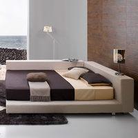Shanghai manufactory High quality teak wood modern bed designs