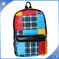 2015 girls pu leather backpack school bags for teenage girls