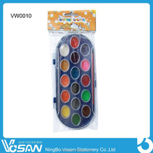 16 Color Around Water Color Paint Set With Art Brush