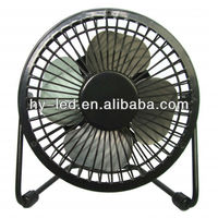 usb mini personal fans / 5v mini usb fan / 4 inch iron usb fan with CE ROHS HY-04