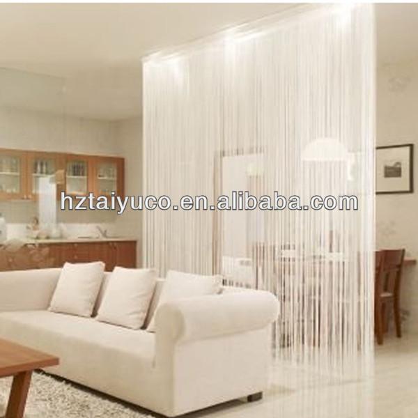 100% polyester rideau de fashional de ligne de spaghetti blanc pour ...