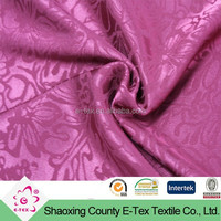 Wholesale stretch garment polyester jacquard satin fabric textile