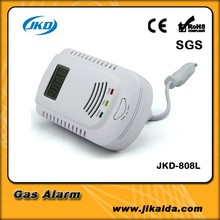 2015 new product human voice prompt carbon monoxide gas detector 2 in 1