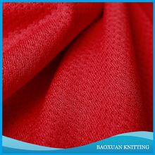 polyester bird eye knitting mesh fabric/jersey fabric material