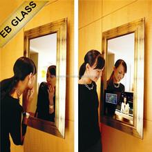 Hidden TV Mirror ,modern magic advertising display mirror, wall mounted tv Mirror Design EB GLASS BRAND