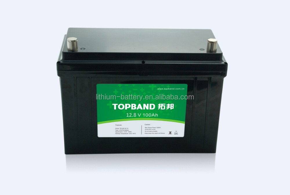 12 Volt 100ah Lithium Ion Rechargeable Lifepo4 Battery For