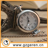 Free sample! wholesale simple hot selling quartz pocket watch