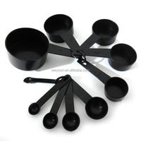 Black Plastic Measuring Spoons Measuring Tools For Baking Coffee salt measuring tool
