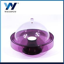 High Quality with purple acrylic base plate decorative dinner plate