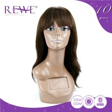 High Standard Portable And Endurable Lace Full Wigs Indonesia With Bangs Made Japan