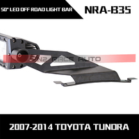 2015 new auto accessories Stainless steel roof trucks mounted bracket curved led light bar tundra