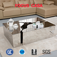 luxury design stainless steel tea table coffee table