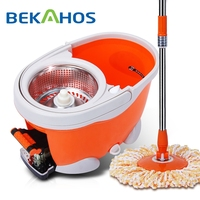 Spinning Mop Bucket Extension Pole Spin Mop with Pedal