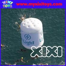xixi toys cheap White inflatable buoys cylinder shape buoys