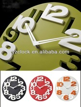 hot selling 12 inch 3D home decorative wall clock 2015