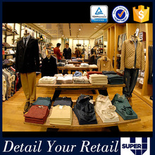 wooden fabric retail fixtures and equipment garment shop interior design