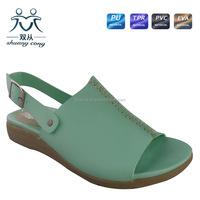 wholesale ladies shoes fancy beautiful girls sandals open toe low heel shoes