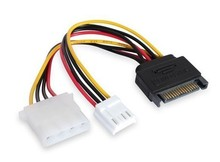 SATA 15 Pin Power to 2*4 Pin Power Y Cable for HDD serial ATA