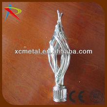 Modern drapery Twist finials match 28mm curtain rod crystal finials