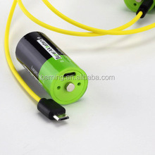 2015 NEW design lithium usb battery for replace AAA AA D C 9V 18650 diy, rechargeable usb lithium battery