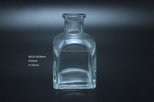 Shining glass fragrance diffuser bottle with aluminum cap