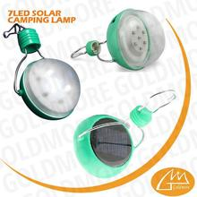 delivery ensured wholesale waterproof 7 LED solar rechargeable camping lanterns for emergency
