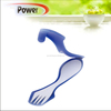 plastic travel cutlery case of knife fork spoon, fork and spoon travel set, personal fork and spoon YC661