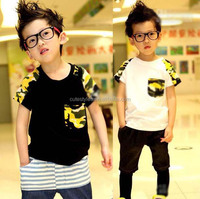 Tee Shirt Boys Kids Clothes Child Short Sleeve T Shirt Fashion Camouflage Shirts Short BT40412-18