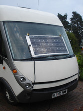 hot selling 80W Semi Flexible Monocrystalline RV Solar Panel for Marine, caravans, golf cars