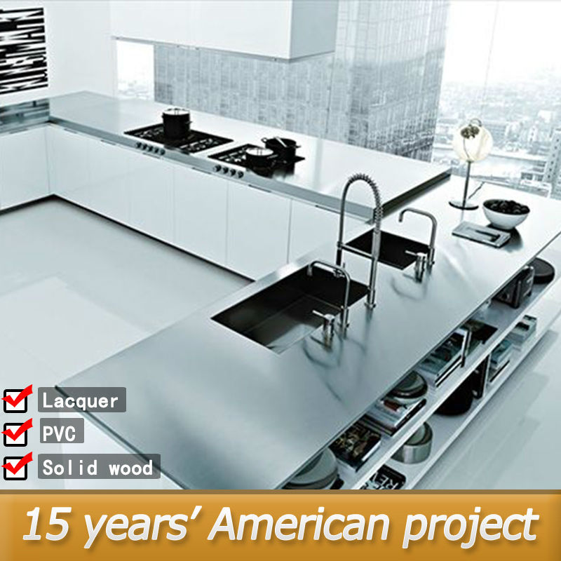 American project affordable modern aluminium kitchen for Kitchen set aluminium modern