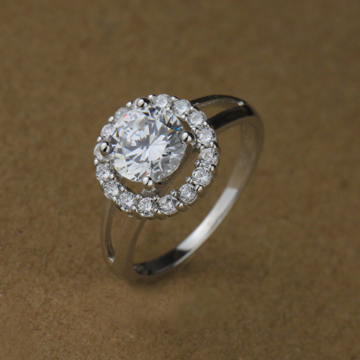 Wedding 5925 Silver Ring Diamond Gents Design