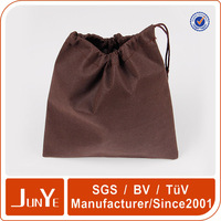 custom company logo non woven drawstring shoe bag dust pouch