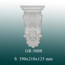 Decorativo de poliuretano europea la decoración del hogar y decoración de la pared