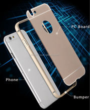 New coming aluminium bumper+PC back cover mobile phone case for iphone 6