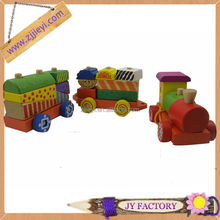 kids education toy wooden block toy train for sale